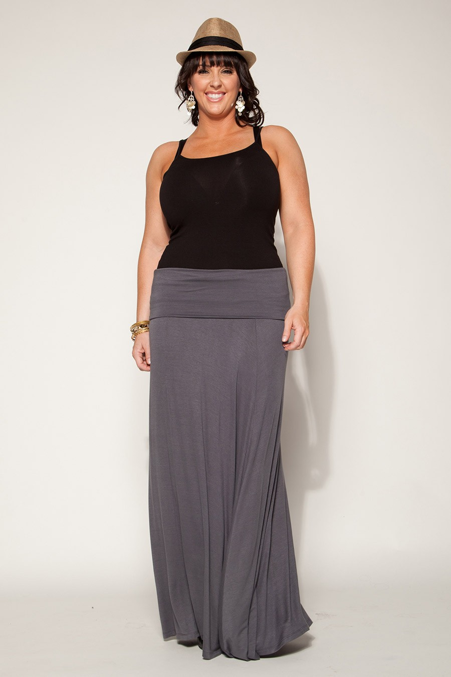 Trendy Plus Sized Clothes and Dresses for Women - Maxi Skirt