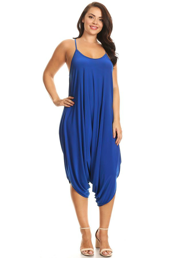CANARI HAREM JUMPSUIT IN ROYAL