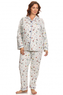 100% COTTON PAJAMAS IN BASEBALL PRINT
