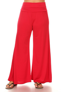 PALAZZO PANTS IN RED