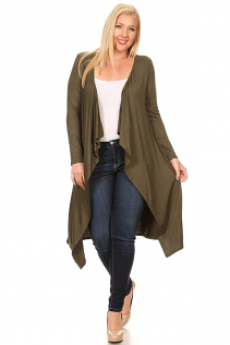 JASMINE OPEN CARDIGAN IN OLIVE