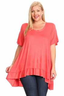 DESERE TUNIC IN CORAL