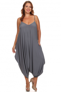 CANARI HAREM JUMPSUIT IN GREY