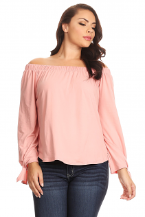 OFF SHOULDER TOP IN MAUVE