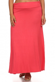 MAXI SKIRT IN CORAL
