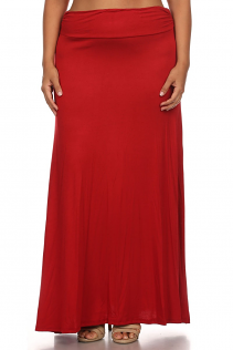 MAXI SKIRT IN RED