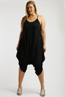 CANARI HAREM JUMPSUIT IN BLACK