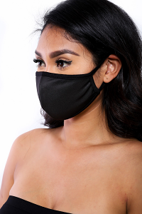 REUSABLE SOCIAL DISTANCING MASK (BLACK)