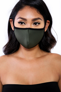 REUSABLE SOCIAL DISTANCING MASK (OLIVE)