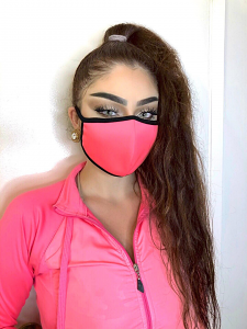 REUSABLE SOCIAL DISTANCING MASK (PINK)