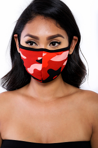 REUSABLE SOCIAL DISTANCING MASK (REDCAMO)