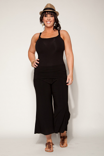 GAUCHO PANTS IN  BLACK