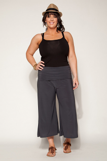 GAUCHO PANTS IN  GRAY