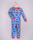 100% ORGANIC COTTON BOYS PAJAMAS - CARS