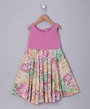 FUCHSIA FLORAL SPINING DRESS