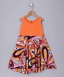 ORANGE FLOWER SPINING DRESS