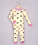 100% BABY RIBBED ORGANIC COTTON PAJAMAS - SCOTTY DOGS