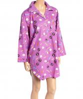 100% COTTON FLANNEL NITE SHIRT IN PEACE PRINT